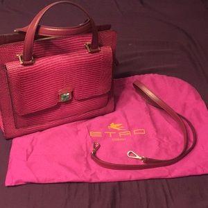 Etro Bags - Etro pink leather handbag